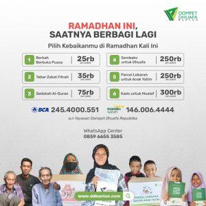 donasi sedekah ramadhan dompet dhuafa banten