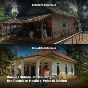 Dompet Dhuafa Banten Bangun dan Resmikan Masjid di kampung Peuris
