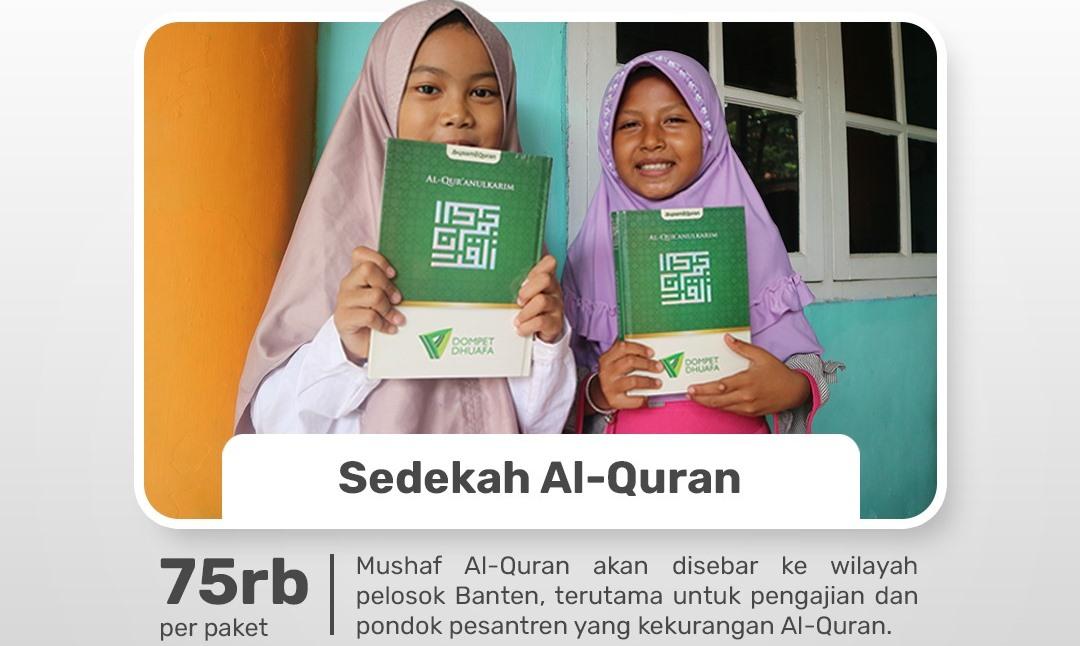 Sedekah Alqur'an Untuk Pelosok Banten