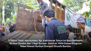 tebar hewan kurban dompet dhuafa banten ke wilayah yang jarang kurban kp kaduberuk