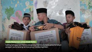 kado muharram untuk anak yatim, dompet dhuafa bagikan kado dan santunan